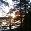 Solnedgång i slutet av september,