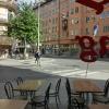 Utsikt från Pizzeria Dolce Vita i Stockholm