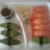 Tråkig sushi gjord på undermåliga ingredienser.