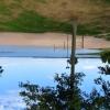Underbar sand och stora gräsytor