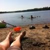Bilder från Hannabadssjön
