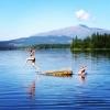Bilder från Helgesjöns badplats