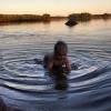 Bilder från Storsjöns badplats