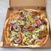 Kebab pizza