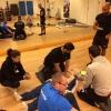 Vi på Skärholmens simhall tränar ett par gånger per år på HLR och livräddning, denna gång med kvalitetssäkring.