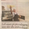 Bilder från La Pizza Halmstad