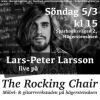 Kom till Hägerstens bästa musikaffär och lyssna på livemusik! Dra med en kompis, drick en kopp kaffe och flanera bland skivor, gitarrer, gamla HiFi-prylar och annat kul i butiken.   LARS-PETER LARSSON, kl 15 Lars-Peter plockar fram gitarren och spelar sin