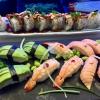 50-50 sushi & Tempura räkor
