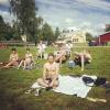 Bilder från Tvärålunds badplats