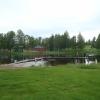 Badet med folkparken i bakgrunden