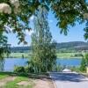 Härlig utsikt ner mot Kalvsjön