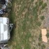 Parkerad husvagn av campingägaren