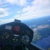 Vy från Borås segelflygklubbs segelflygplan: DG500 SE-UND över Viared.