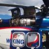 Intresset för Wikinghelikoptern var stort, här ser vi den ena gasturbinen.