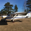 Ultralätt SILA 450C parkerad på Eksjö i mars