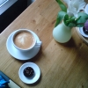 Underbar chokladpralin och gott kaffe!