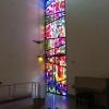 Mosaikfönstret, som komponerades av konstnären Berndt Helleberg.
