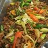 Fläskkarré wok!