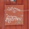 En Välkommen-skylt på Restaurang Ågården i Arboga.