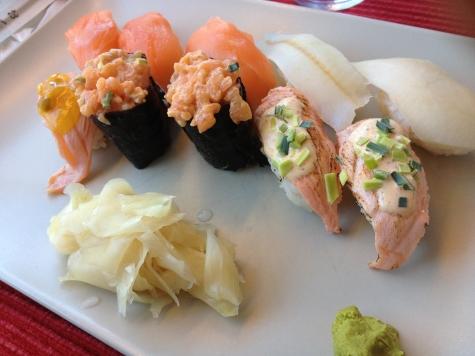 Sushi och Te