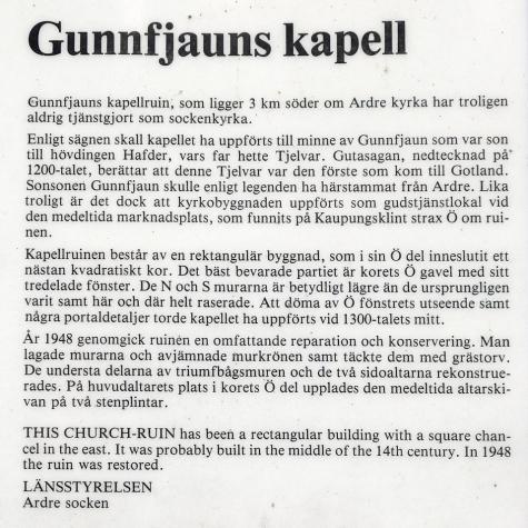 Gunfjauns kapellruin