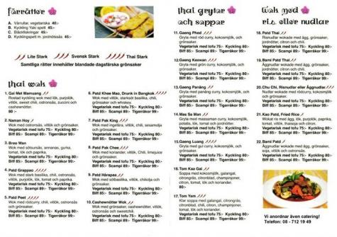 Restaurangkartan Se Wok Torpet