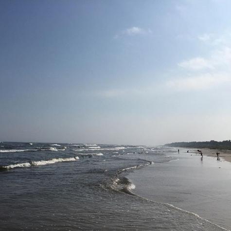 Badkartanse Borrby Strand Kyhl Bild Från Kyhls Strand Av