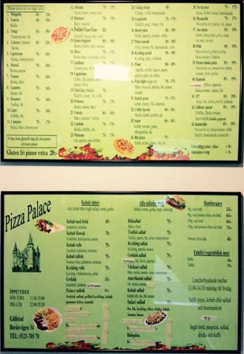 texas pizzeria svenljunga meny