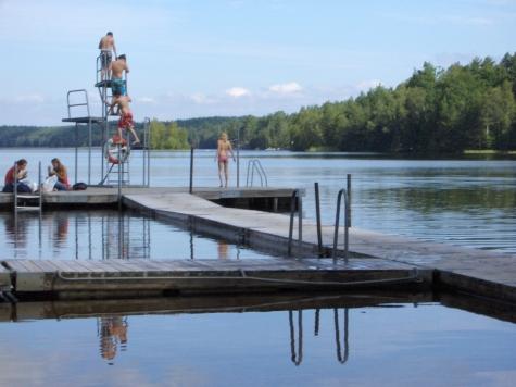 badplats med hopptorn stockholm