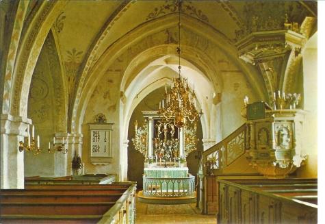 KYRKOKARTAN.SE » Everöds kyrka » Vykort från O. Lilljeqvist, Dals Långed