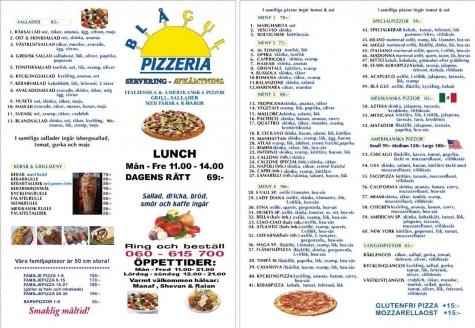 pizza blågul oskarshamn meny