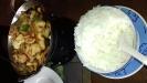 Thai Wokad kyckling med grönsaker och chacew nötter.