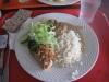 Pannbiff med grönpepparsås