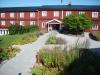 Hotellet har flera hus.