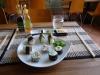 Åtta vegetariska sushibitar för 70 kronor.