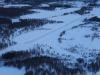 Brekken flyplass ligger 11 km vest for grensen