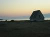 Solnedgång vid Koviks kapell maj 2009