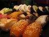 många härliga sushi bitar!