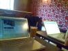 Det mobila kontoret. Här under utvecklingsarbete.