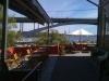 Cool utsikt mot Tranebergsbron från utserveringen.