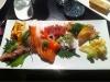 Stor sashimi - riktigt läcker.