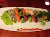 En vanlig sushi-tallrik
