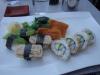 12 bitar vegetarisk sushi för 98 kronor.