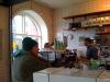 Mycket stammisar på kaffebar.