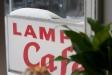 Lampas café har hängt med ett tag. Skylten på Folkets Hus nära stationen visar vägen.