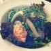 Grön vegansk sallad med quinoa och edamame