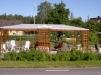 Mysigt trädgårdscaffe i Nittorp