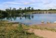 Vacker vy över dammen