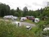 En vy över campingen. Cirka 10-12 ekipage får plats.