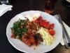 Gott och smakrikt! Betydligt mer grönsaker än kött.